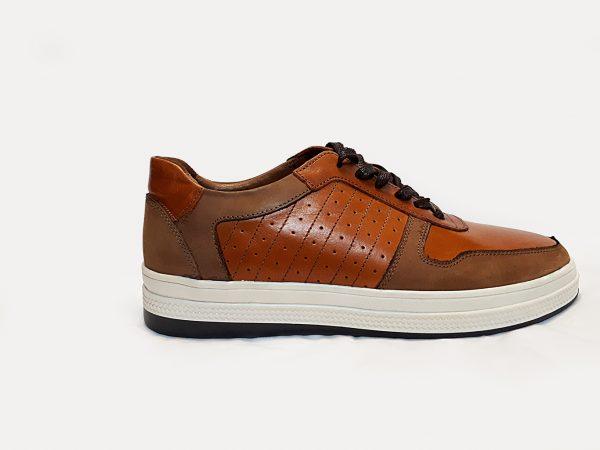 کفش مردانه اسپرت ونس 3 بندی عسلی 1000200004